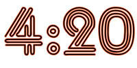 4:20 Vinyl Decal, Near Sighted Font