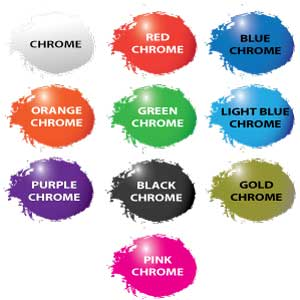 Chrome Vinyl Decal Colors